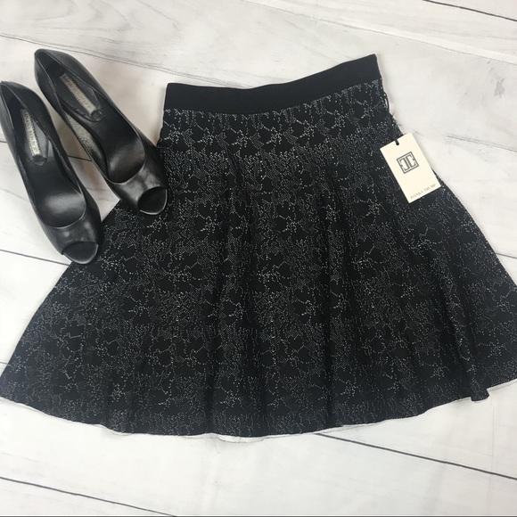 b9ba2d8645 Ivanka Trump Skirts | Nwt Pleated Black Textured Skirt S | Poshmark